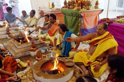 Local Hindus join those around the world celebrating Diwali, the Festival of Lights