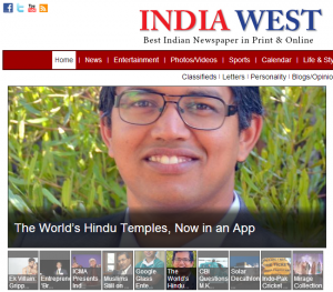 India West Hindu Temples App Online Jun27 Home Page